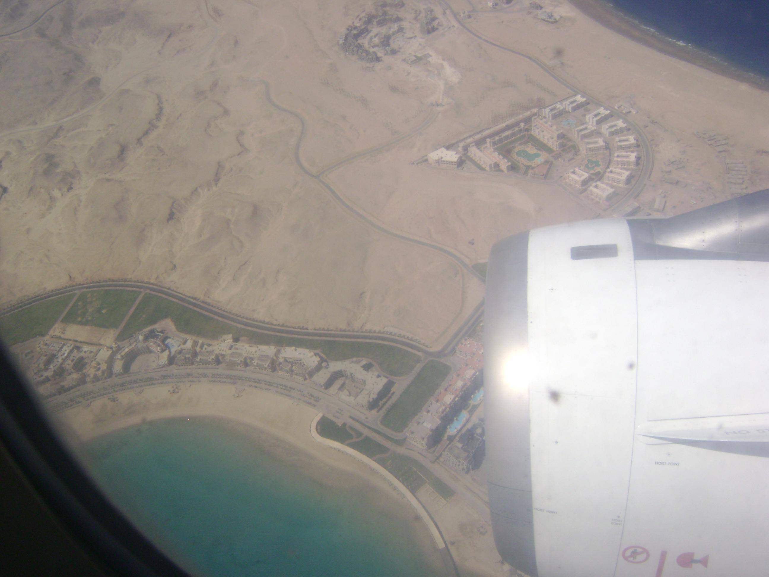 Domki z klocków Lego, Hurghada z lotu ptaka.
